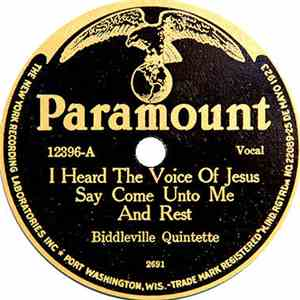 Biddleville Quintette - I Heard The Voice Of Jesus Say Come Unto Me And Rest / Fight On You're Time Ain't Long download mp3 album